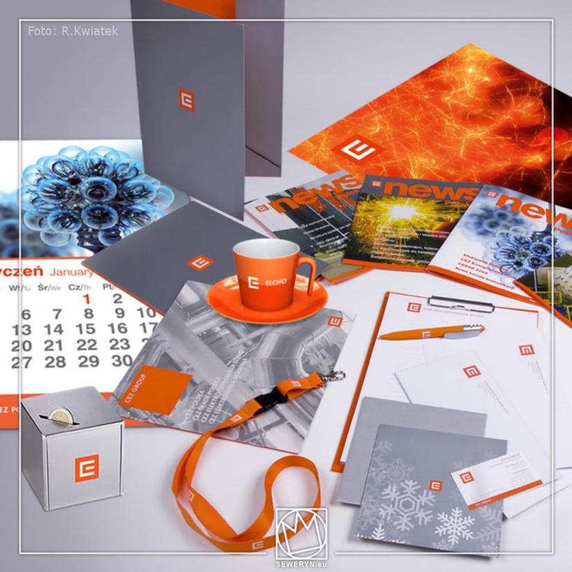 Projekty materiałów reklamowych dla CEZ